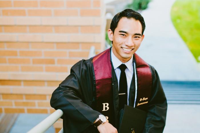 david graduation photo