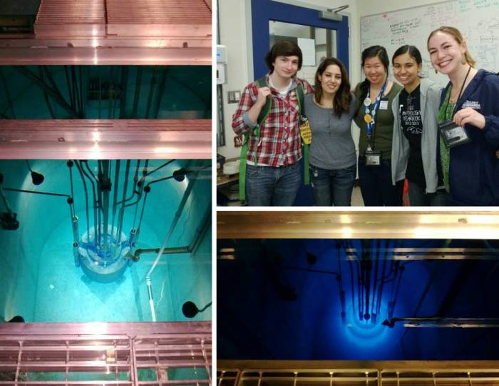 danielle visit nuclear reactor